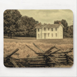 Southern Rural Landscape Rustic colonial Farmhouse Mouse Pad