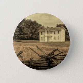 Southern Rural Landscape Rustic colonial Farmhouse Pinback Button