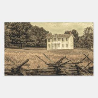 Southern Rural Landscape Rustic colonial Farmhouse Rectangular Sticker