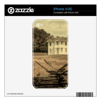 Southern Rural Landscape Rustic colonial Farmhouse Skin For The iPhone 4S
