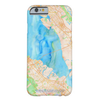 Southern San Francisco Bay Watercolor Map Barely There iPhone 6 Case