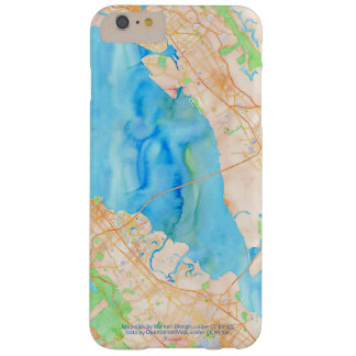 Southern San Francisco Bay Watercolor Map Barely There iPhone 6 Plus Case