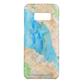Southern San Francisco Bay Watercolor Map Case-Mate Samsung Galaxy S8 Case