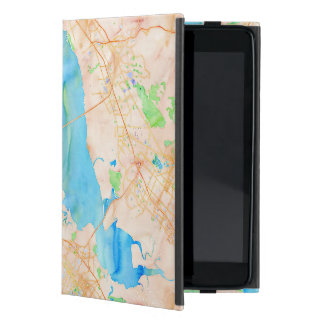 Southern San Francisco Bay Watercolor Map Cover For iPad Mini