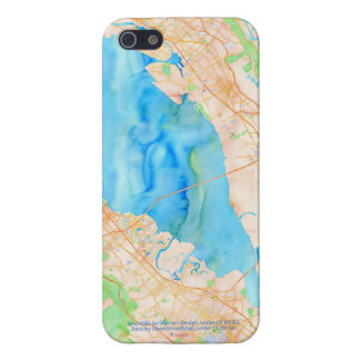 Southern San Francisco Bay Watercolor Map Cover For iPhone SE/5/5s