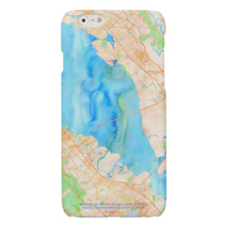 Southern San Francisco Bay Watercolor Map Glossy iPhone 6 Case