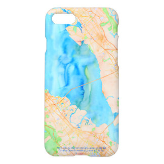 Southern San Francisco Bay Watercolor Map iPhone 7 Case