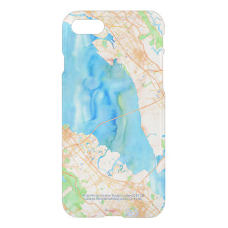 Southern San Francisco Bay Watercolor Map iPhone 8/7 Case
