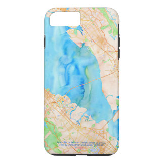 Southern San Francisco Bay Watercolor Map iPhone 8 Plus/7 Plus Case