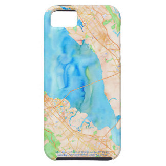 Southern San Francisco Bay Watercolor Map iPhone SE/5/5s Case