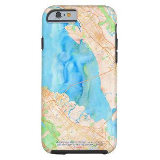 Southern San Francisco Bay Watercolor Map Tough iPhone 6 Case