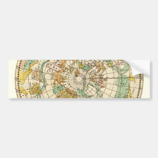 Southern Sky Star Chart and Constellations Map Car Bumper Sticker