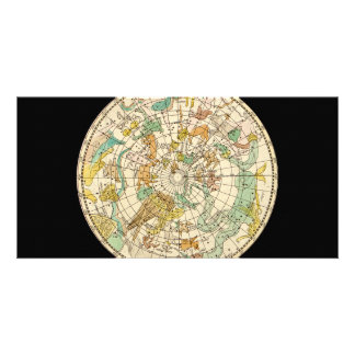 Southern Sky Star Chart and Constellations Map Photo Card