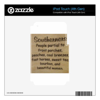 Southern slang iPod touch 4G skins