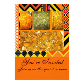 "Southern Soul Food,Chicken,greens,mac &chesse,c... 5"" X 7"" Invitation Card"