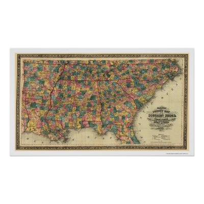 Us Map 1864