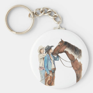 Southern Style Basic Round Button Keychain