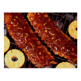 Southern style spareribs postcard