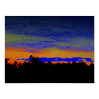 Southern Sunset Poster