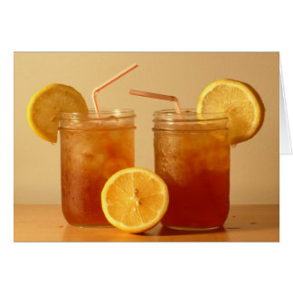 Southern Sweet Tea for Two in Mason Jars Card
