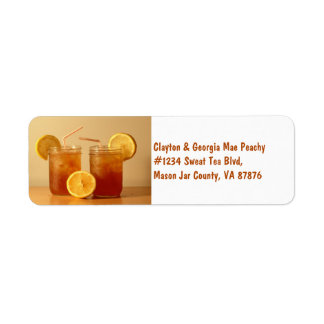Southern Sweet Tea for Two in Mason Jars Label