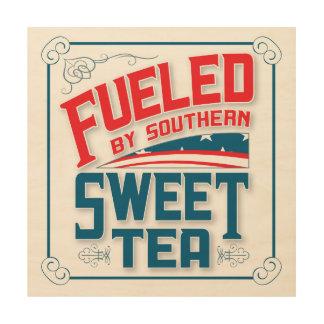 Southern Sweet Tea Retro Design Wood Wall Hanging Wood Print
