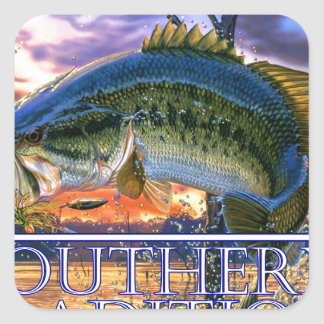 Southern Traditions Bass 1.jpg Square Sticker