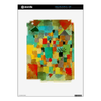 Southern (Tunisian) gardens by Paul Klee iPad 2 Decals