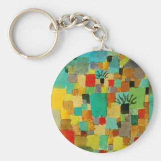 Southern (Tunisian) gardens by Paul Klee Keychain