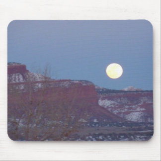 Southern Utah, Red Rock Moon Mouse Pad