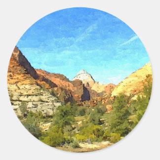 Southern Utah Vista Classic Round Sticker