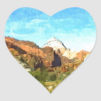 Southern Utah Vista Heart Sticker
