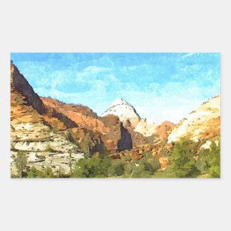 Southern Utah Vista Rectangular Sticker