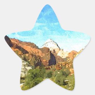 Southern Utah Vista Star Sticker