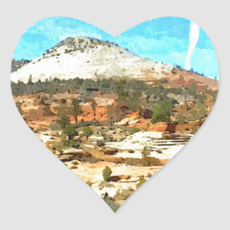Southern Utah Vista with Red Soil Heart Sticker