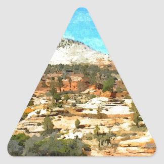 Southern Utah Vista with Red Soil Triangle Sticker