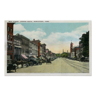 Southern View Down Main Street Poster
