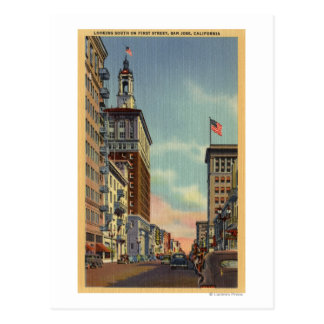 Southern View of First Street Post Card