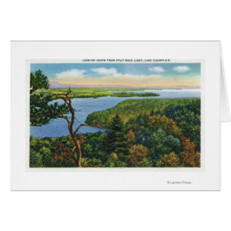 Southern View of Lake from Split Rock Light Card
