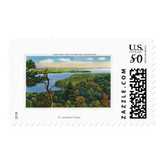 Southern View of Lake from Split Rock Light Postage