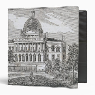 Southern view of the State House in Boston Vinyl Binders