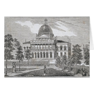 Southern view of the State House in Boston Card