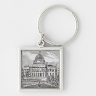 Southern view of the State House in Boston Keychain
