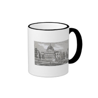 Southern view of the State House in Boston Ringer Coffee Mug