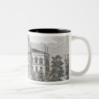 Southern view of the State House in Boston Two-Tone Coffee Mug