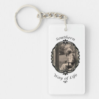 southern way of life keychain