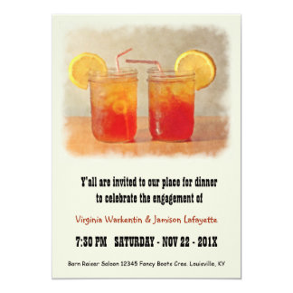 Southern Wedding Sweet Tea Dinner Party 5x7 Paper Invitation Card