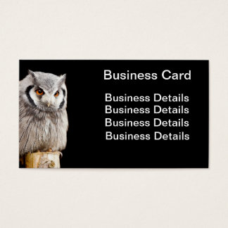 Southern White Faced Owl on a post Business Card
