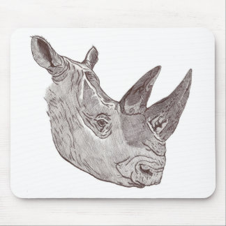 Southern White Rhinoceros Mouse Pad