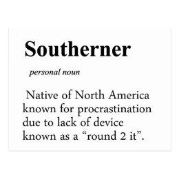 Southerner Postcard